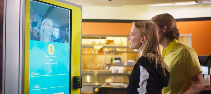 Face recognition on physical kiosks